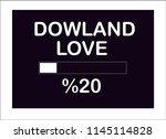 dowland love slogan vector   Shutterstock .eps vector #1145114828