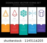 5 vector icons such as cone ... | Shutterstock .eps vector #1145116205