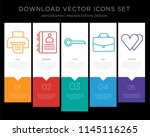 5 vector icons such as printer  ... | Shutterstock .eps vector #1145116265