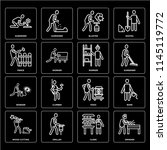 set of 16 icons such as grinder ...