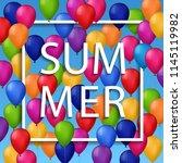 vector summer illustration of... | Shutterstock .eps vector #1145119982