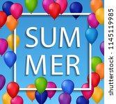 vector summer illustration of... | Shutterstock .eps vector #1145119985