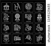 set of 16 icons such as test... | Shutterstock .eps vector #1145125655