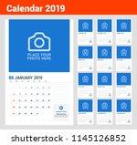 wall calendar planner template... | Shutterstock .eps vector #1145126852
