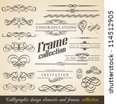 calligraphic design elements... | Shutterstock .eps vector #114512905