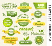 vector eco stamps  banners and... | Shutterstock .eps vector #114512956