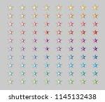 star button icon in half folded ...