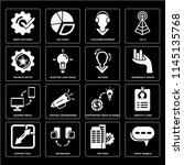 set of 16 icons such as speak... | Shutterstock .eps vector #1145135768
