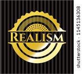 realism gold badge | Shutterstock .eps vector #1145136308