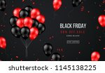 black friday sale banner with... | Shutterstock .eps vector #1145138225