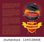 hot bbq barbeque party poster... | Shutterstock .eps vector #1145138408
