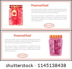 preserved food banners with... | Shutterstock .eps vector #1145138438