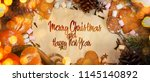 new year and christmas holidays ... | Shutterstock . vector #1145140892