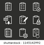 document vector icon.... | Shutterstock .eps vector #1145142992