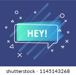 colorful questions speech... | Shutterstock .eps vector #1145143268