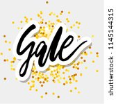 summer sale lettering... | Shutterstock .eps vector #1145144315