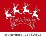 christmas reindeer illustration ... | Shutterstock .eps vector #114514528