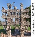 great stupa  stupa 1    ancient ... | Shutterstock . vector #1145146175