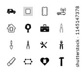 hardware icon. collection of 16 ... | Shutterstock .eps vector #1145147378
