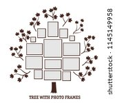 lovely flat tree with photo... | Shutterstock .eps vector #1145149958