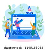 concept application form for... | Shutterstock .eps vector #1145155058