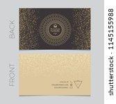 elegant business card template. ... | Shutterstock .eps vector #1145155988