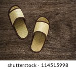 shoes on old wood | Shutterstock . vector #114515998