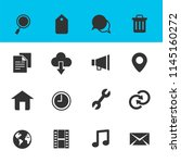 web and internet icons set with ... | Shutterstock .eps vector #1145160272