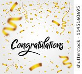 congratulations with golden... | Shutterstock .eps vector #1145160695
