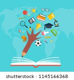 education and knowledge pencil  ...   Shutterstock .eps vector #1145166368
