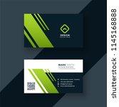 dark green business card... | Shutterstock .eps vector #1145168888