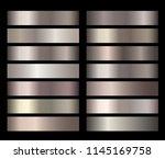 bronze  silver  gold  chrome... | Shutterstock .eps vector #1145169758