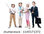 happy schoolchildren in... | Shutterstock . vector #1145171372