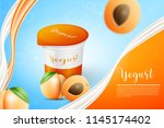 apricot and yogurt | Shutterstock .eps vector #1145174402