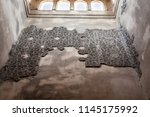 mosaic pattern on a wall inside ... | Shutterstock . vector #1145175992