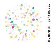 memphis round confetti vintage... | Shutterstock .eps vector #1145181302