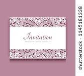 vector wedding invitation card... | Shutterstock .eps vector #1145181338