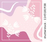 pinkish floral scarf pattern | Shutterstock .eps vector #1145181938