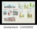 uk   circa 1980  commemorative... | Shutterstock . vector #114518302