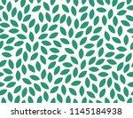 leaves pattern. endless... | Shutterstock .eps vector #1145184938