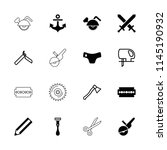 sharp icon. collection of 16... | Shutterstock .eps vector #1145190932