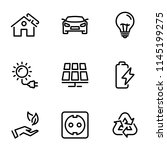 set of black vector icons ... | Shutterstock .eps vector #1145199275