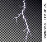 lightning bolt isolated on dark ... | Shutterstock .eps vector #1145204222