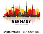 germany cities skyline... | Shutterstock .eps vector #1145204408