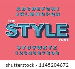 vector of modern bold font and... | Shutterstock .eps vector #1145204672