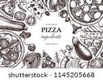 horizontal design with hand... | Shutterstock .eps vector #1145205668