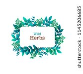 herbal pre made composition.... | Shutterstock .eps vector #1145206685