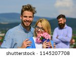 couple in love dating while... | Shutterstock . vector #1145207708