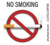 no smoking sign isolated on... | Shutterstock .eps vector #1145218958