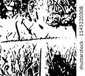 abstract monochrome grunge... | Shutterstock .eps vector #1145220308